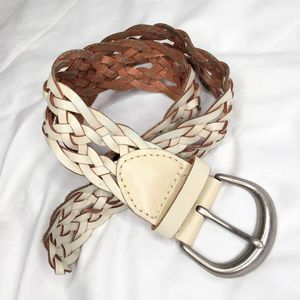 Express Leather Woven Braided Belt